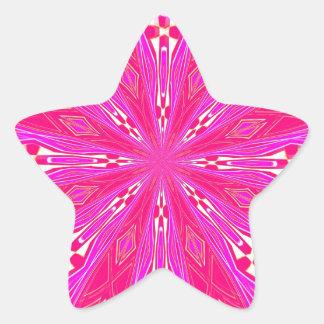Pétalos en el punto rosa claro colcomanias forma de estrellaes