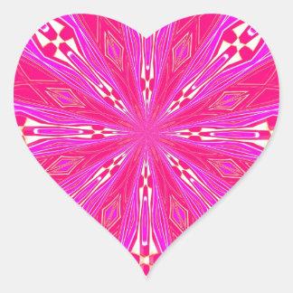 Pétalos en el punto rosa claro calcomanía de corazón personalizadas
