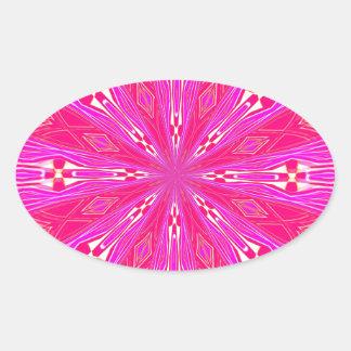 Pétalos en el punto rosa claro colcomanias de oval personalizadas