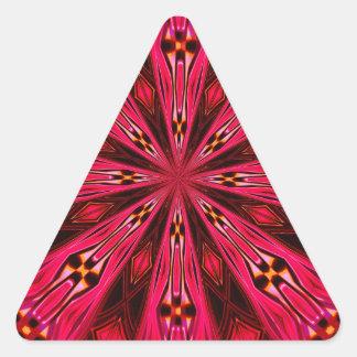 Pétalos en la frambuesa del punto calcomanías de trianguladas