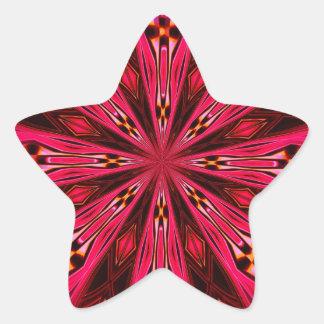 Pétalos en la frambuesa del punto calcomania forma de estrella personalizadas