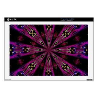 Pétalos en piel púrpura del ordenador portátil del skins para 43,2cm portátil