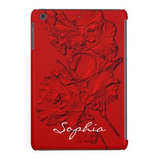 Pétalos esculpidos del iris, mini caja Roja-Ipad Funda Para iPad Mini Retina