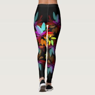 Pétalos eufóricos del arco iris del Hippie de Leggings