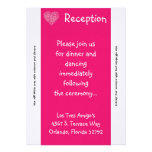 pétalos florales del rosa de la tarjeta de la rece invitacion personalizada