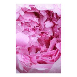 Pétalos florales rosados papelería