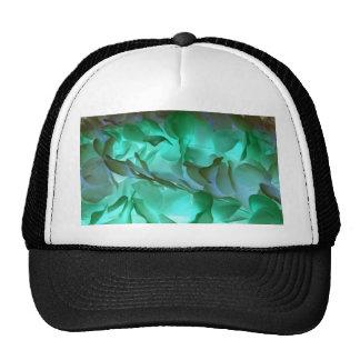 Pétalos grises y verdes fantasmagóricos gorra