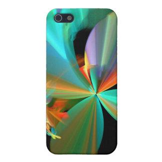 Pétalos metálicos coloridos de la flor iPhone 5 carcasa