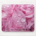 Pétalos Mousepad rosado del árbol Alfombrilla De Raton