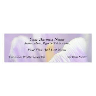 Pétalos perfectos - el azafrán tarjetas de visita mini