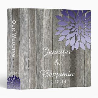 "Pétalos púrpuras modernos de madera del granero carpeta 1 1/2"""