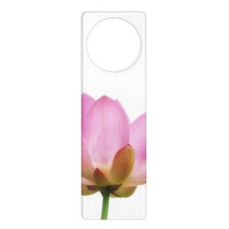 Pétalos rosados de la flor de OM Lotus Colgador Para Puerta