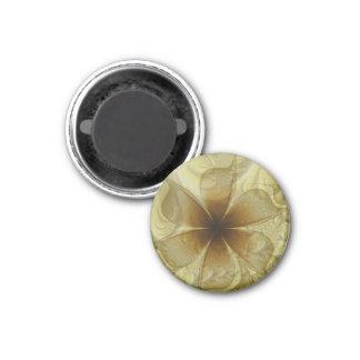 Pétalos translúcidos imán redondo 3 cm