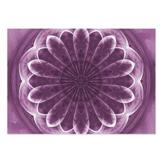 Pétalos violetas - tarjeta de comercio del artista tarjetas de visita grandes