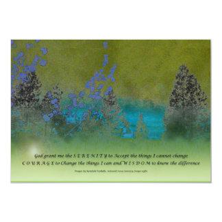 """Pétalos y árboles del rezo de la serenidad invitación 5"""" x 7"""""""