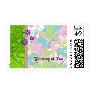 Petals and Dew Drops Thinking Stamp