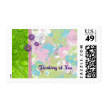 Petals and Dew Drops Thinking Postage Stamp