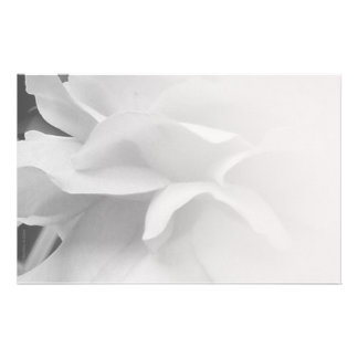Petals Black and White Stationery