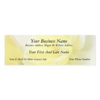 Petals - Daffodil Detail Double-Sided Mini Business Cards (Pack Of 20)