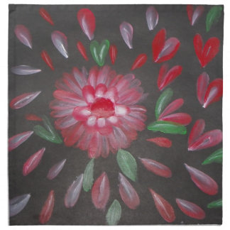 Petals Escaping Painting Cloth Napkins