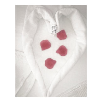 Petals in heart letterhead