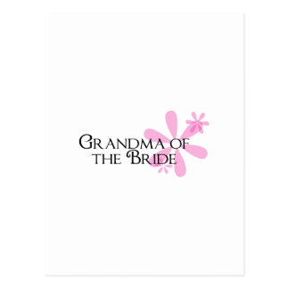 Petals in Pink Grandma of the Bride Postcard