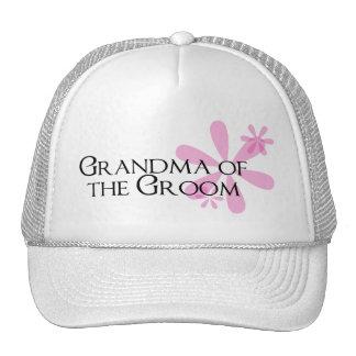 Petals in Pink Grandma of the Groom Trucker Hat