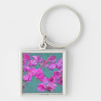 Petals in the Pool Keychain