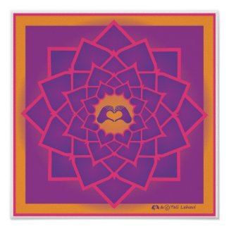 Petals Mandala with the HeartMark print
