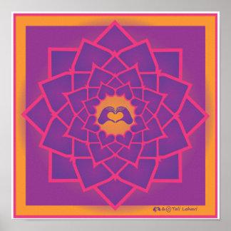 Petals Mandala with the HeartMark Poster