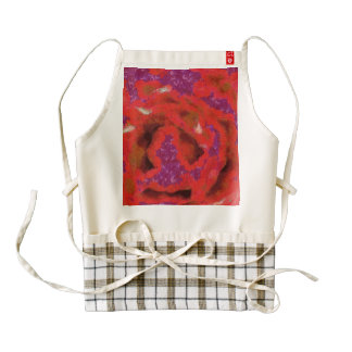Petals of a red rose zazzle HEART apron