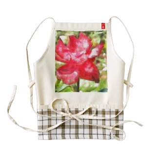 Petals of an open rose zazzle HEART apron