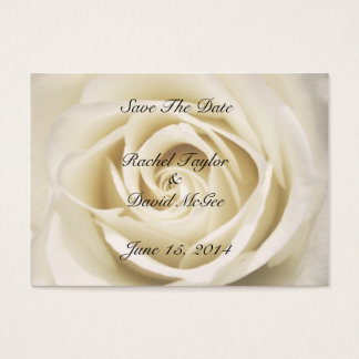 Petals Of Love, White, Save The Date Cards