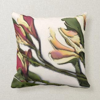 Petals on Pillow, throw pillow