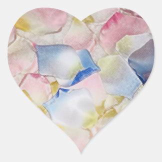 Petals - Transfer Heart Sticker