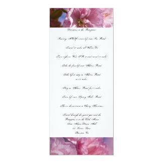 "Petals Wedding Directions Custom Invitations 4"" X 9.25"" Invitation Card"