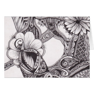 Petals Zig-Zags and Dots Notecard