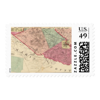 Petaluma and Vallejo Townships Stamp