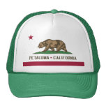 Petaluma: Bandera del casquillo de California Gorras