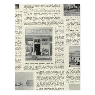 Petaluma Businesses, California Postcard