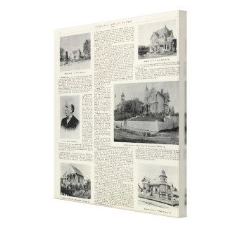 Petaluma Residences, California Stretched Canvas Prints