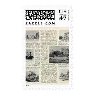 Petaluma Residences, California Postage Stamp