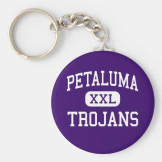 Petaluma - Trojans - High - Petaluma California Basic Round Button Keychain