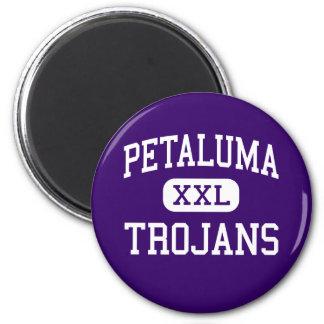 Petaluma - Trojans - High - Petaluma California 2 Inch Round Magnet