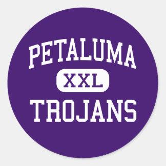 Petaluma - Trojans - High - Petaluma California Classic Round Sticker