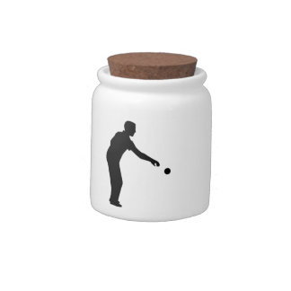 Petanque boccia player candy jars