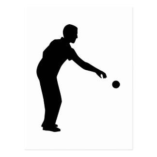 Petanque boccia player postcard