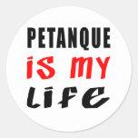 Petanque es mi vida pegatina