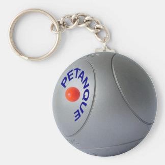 Petanque Key Chain Basic Round Button Keychain