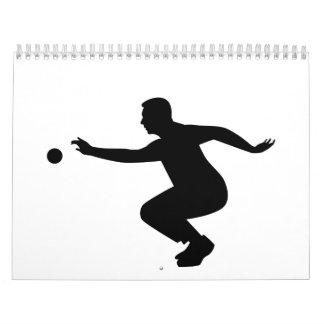 Petanque player calendar